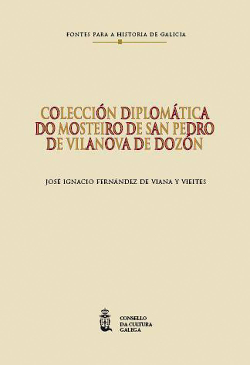 Portada de  Colección diplomática do mosteiro de San Pedro de Vilanova de Dozón