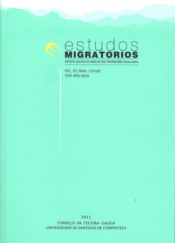 Portada de  Estudos Migratorios. Revista Galega de Análise das Migracións. V. III, N.º 1 (2010)
