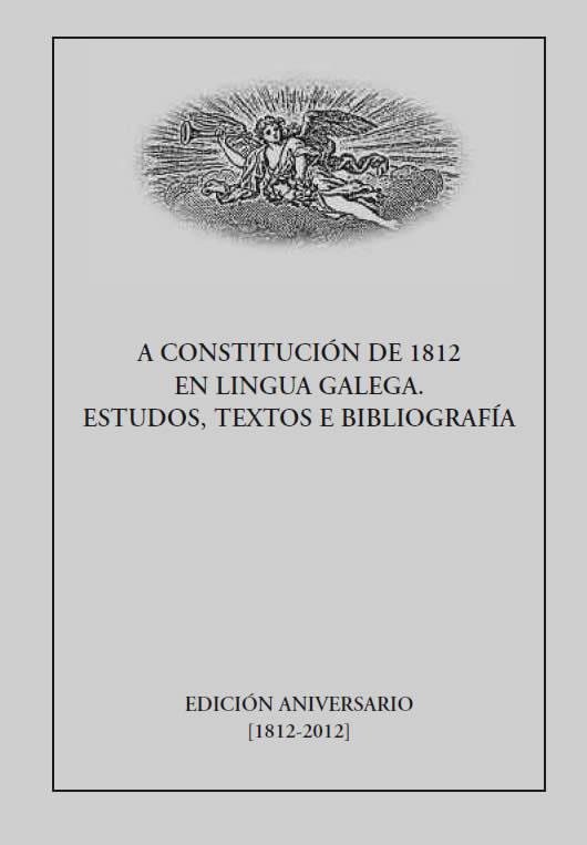 Portada de A constitución de 1812 en lingua galega