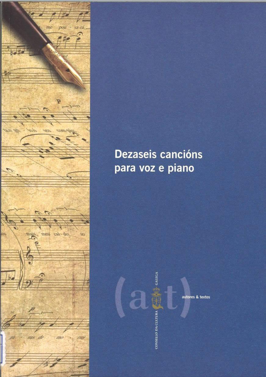Portada de  Dezaseis cancións para voz e piano