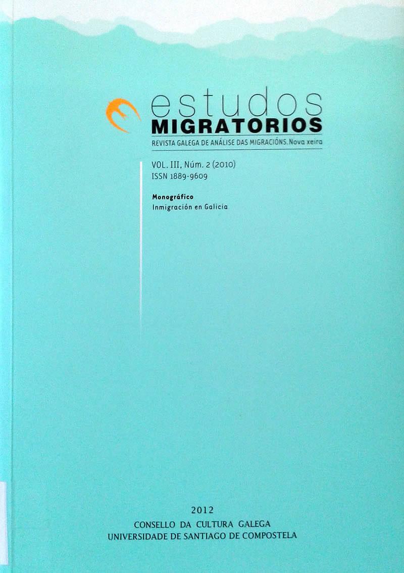 Portada de  Estudos Migratorios. Revista Galega de Análise das Migracións. V. III, N.º 2 (2010)