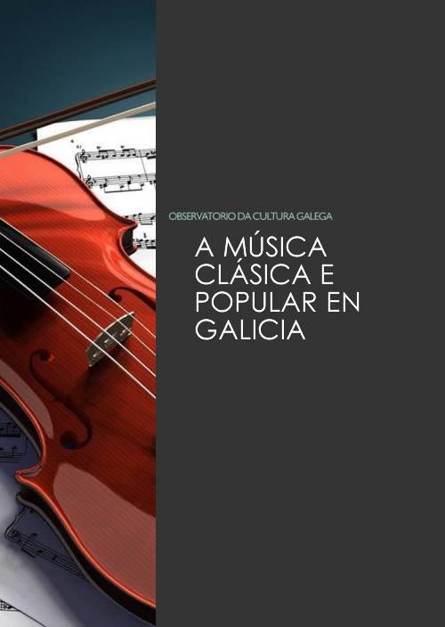 Portada de A música clásica e popular en Galicia