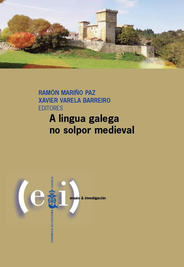 Portada de A  lingua galega no solpor medieval