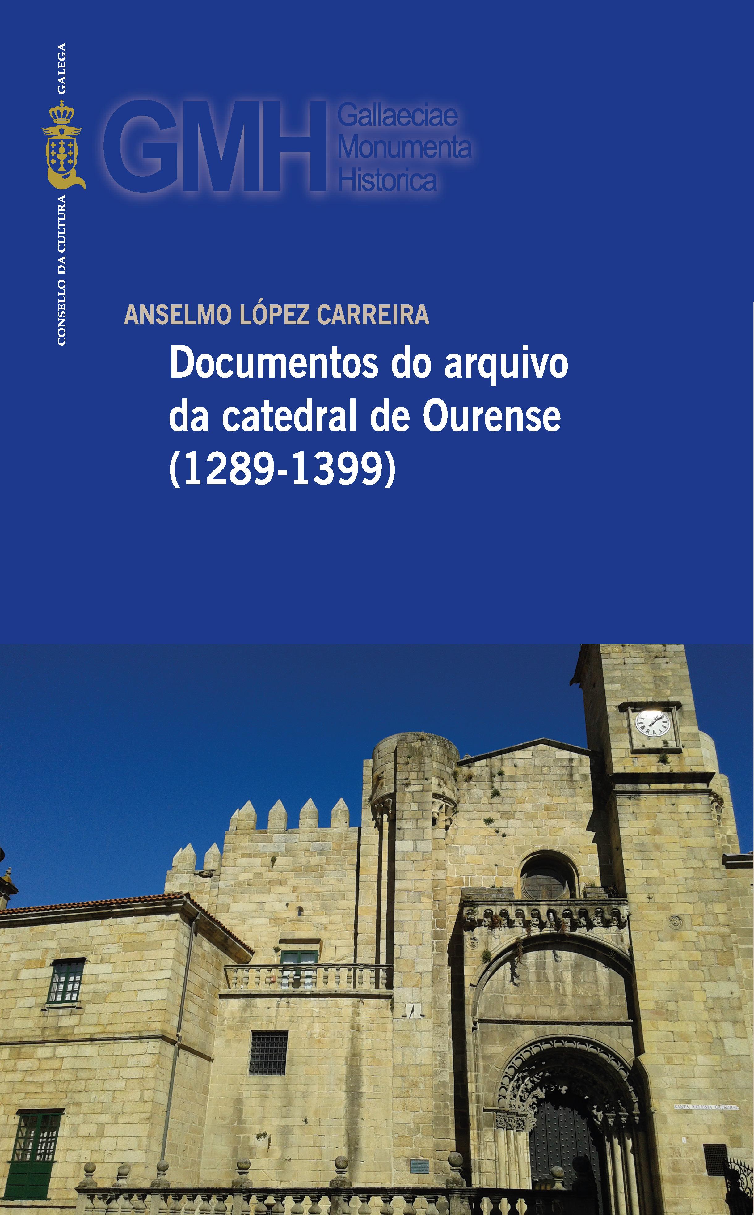 Portada de  Documentos do arquivo da catedral de Ourense (1289-1399)