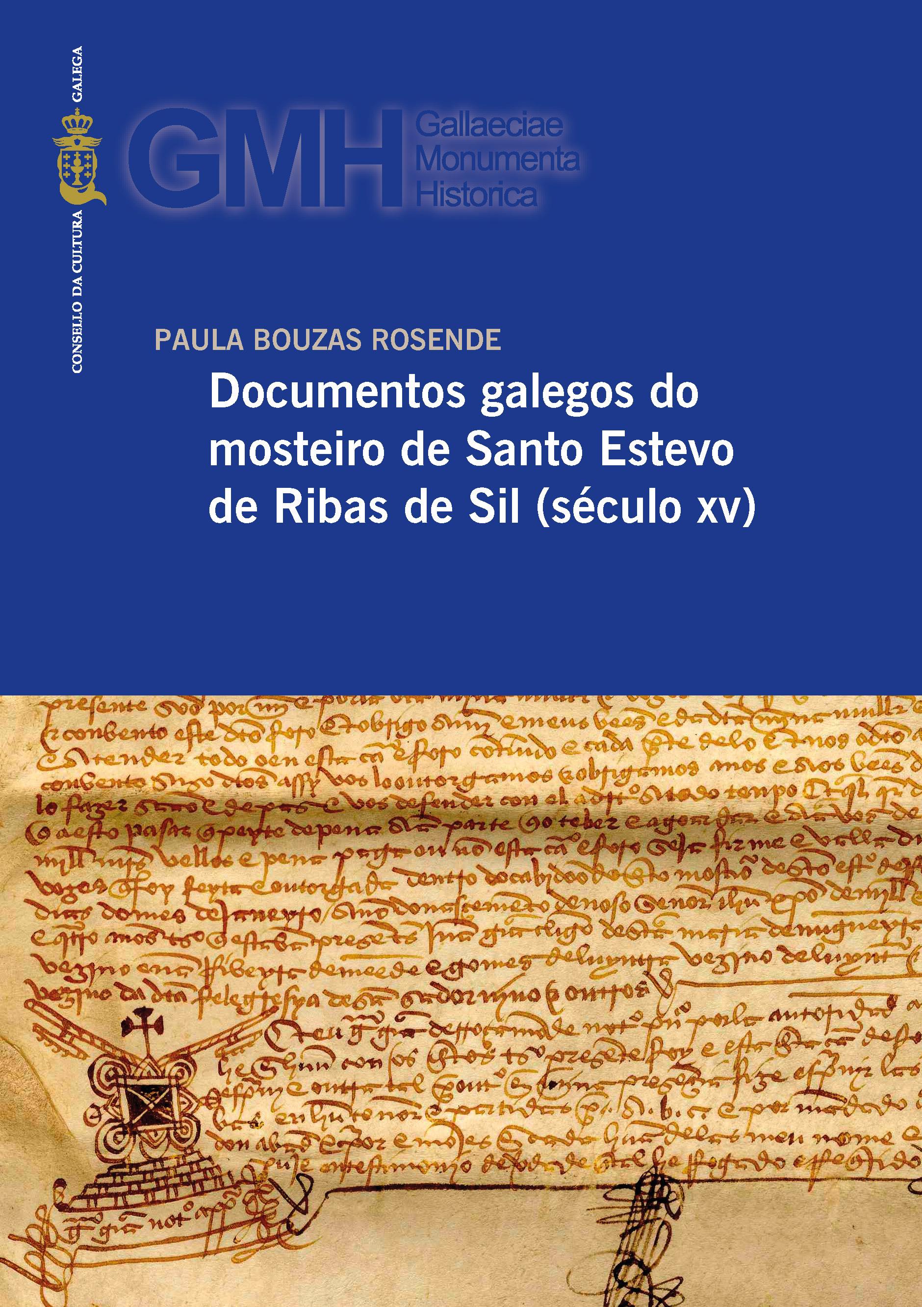 Portada de  Documentos galegos do mosteiro de Santo Estevo de Ribas de Sil (século XV)