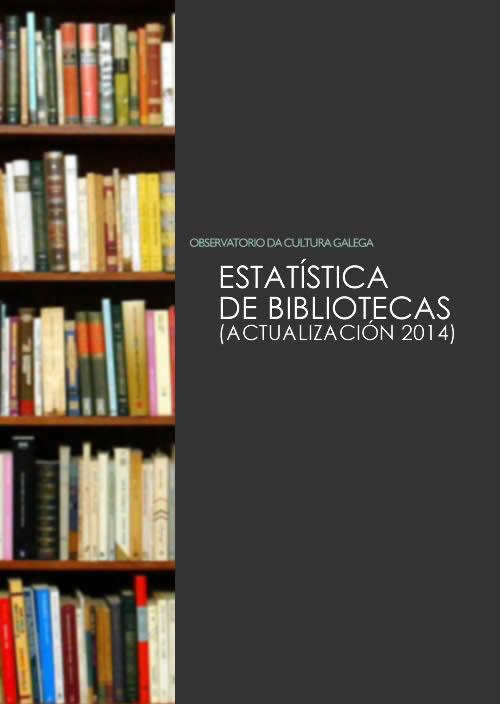 Portada de  Estatística de bibliotecas