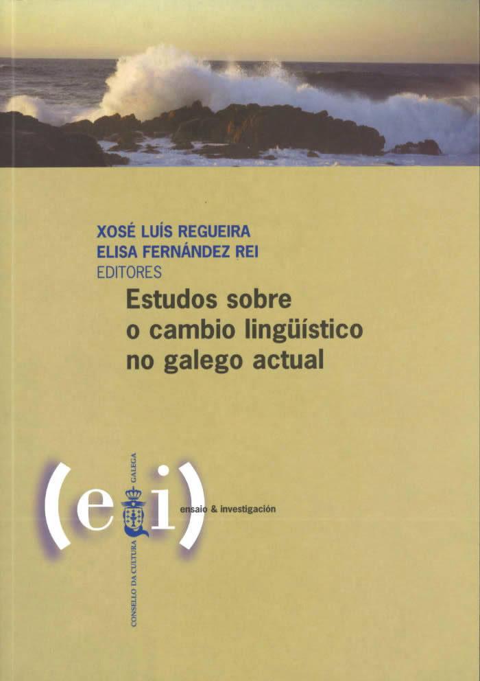 Portada de  Estudos sobre o cambio lingüístico no galego actual