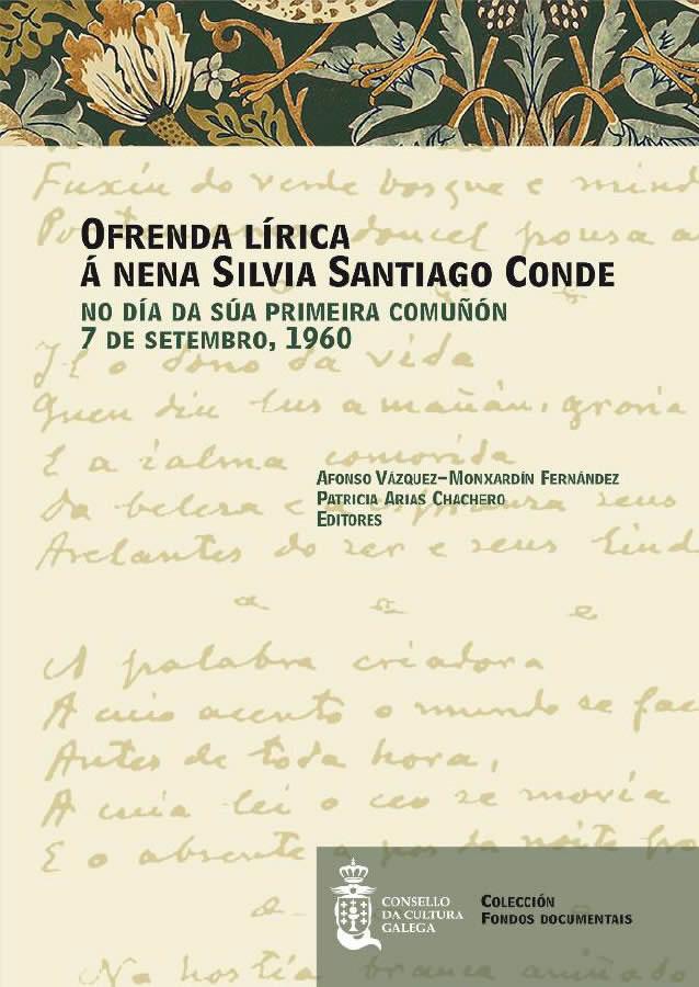 Portada de  Ofrenda lírica á nena Silvia Santiago Conde no día da súa Primeira Comuñón
