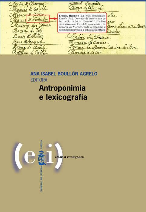 Portada de  Antroponimia e lexicografía