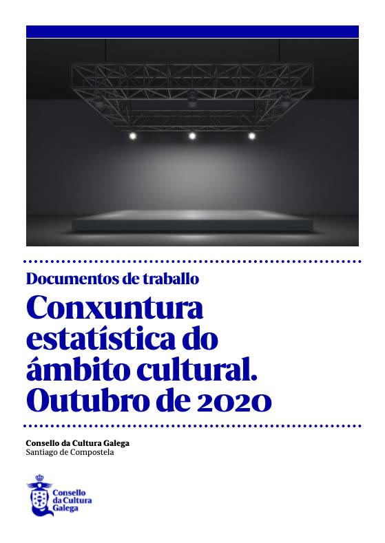 Portada de  Conxuntura estatística do ámbito cultural. Outubro de 2020