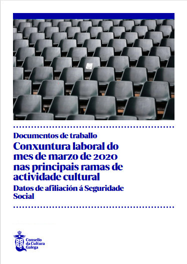 Portada de  Conxuntura laboral do mes de marzo de 2020 nas principais ramas de actividade cultural