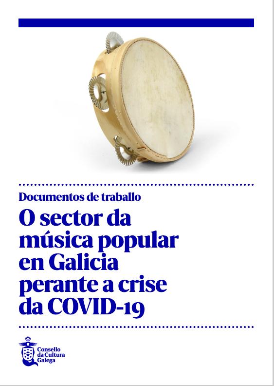 Portada de O sector da música popular en Galicia perante a crise da COVID-19