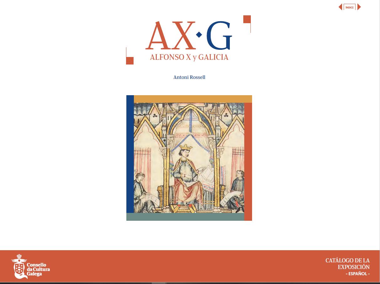 Portada de  AX-G. Alfonso X y Galicia
