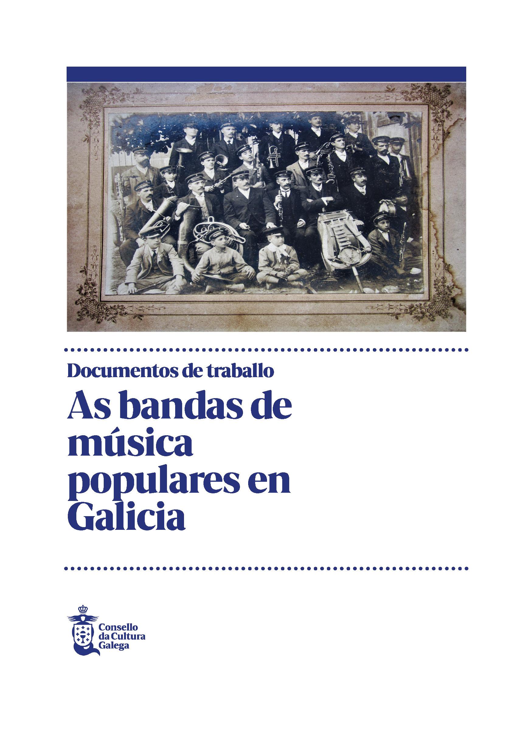 Portada de As bandas de música populares en Galicia
