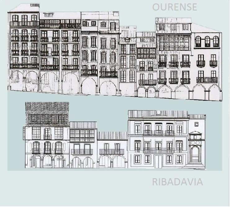 Os cascos históricos de Ourense e Ribadavia