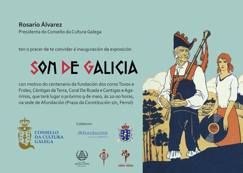 convite: Convite exposición Son de Galicia en Ferrol