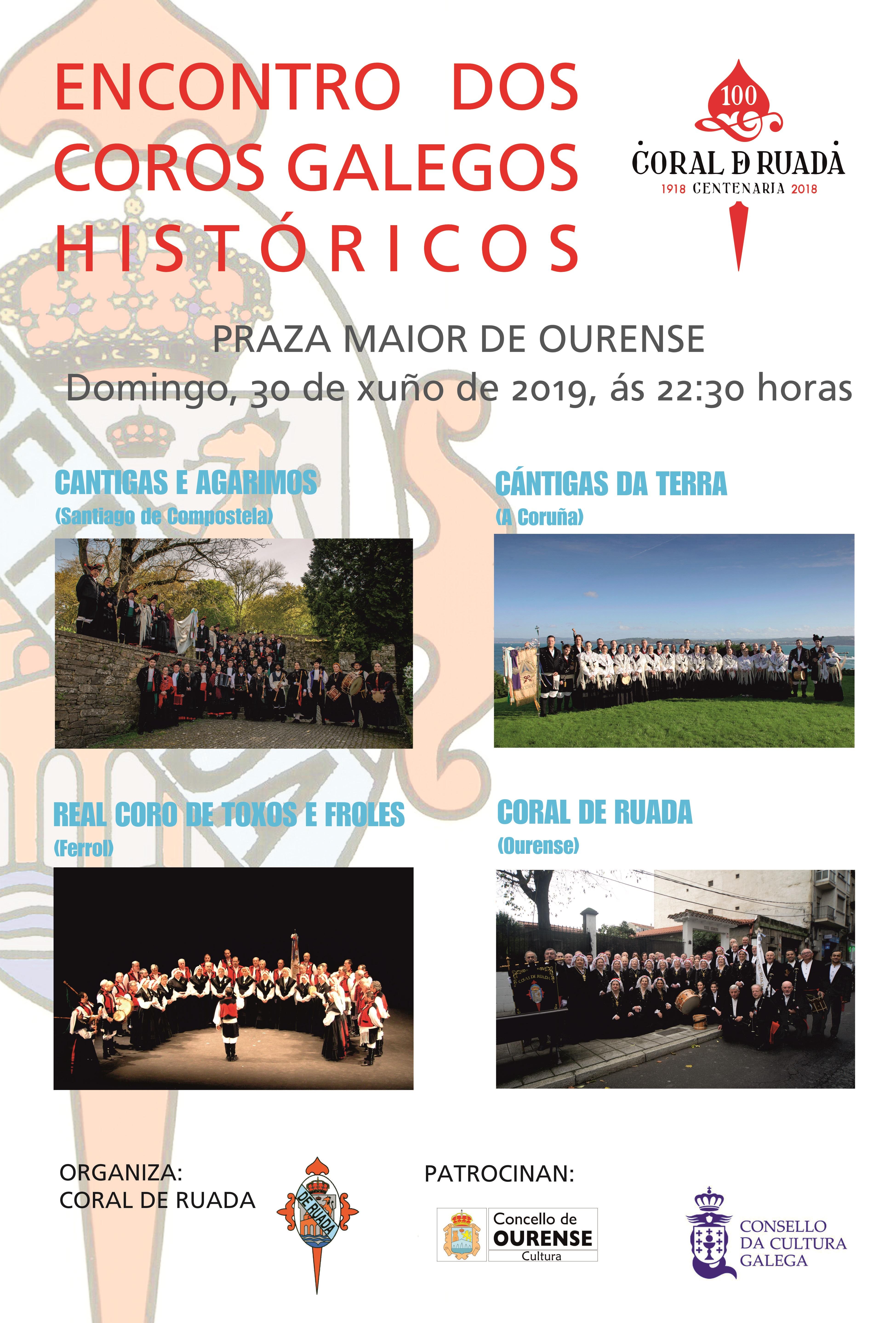 Cartaz: Concerto de Coros Históricos Galegos