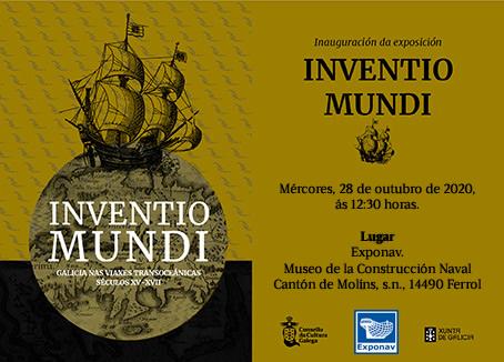 convite: Inventio Mundi. Galicia nas viaxes transoceánicas séculos XVI-XVII