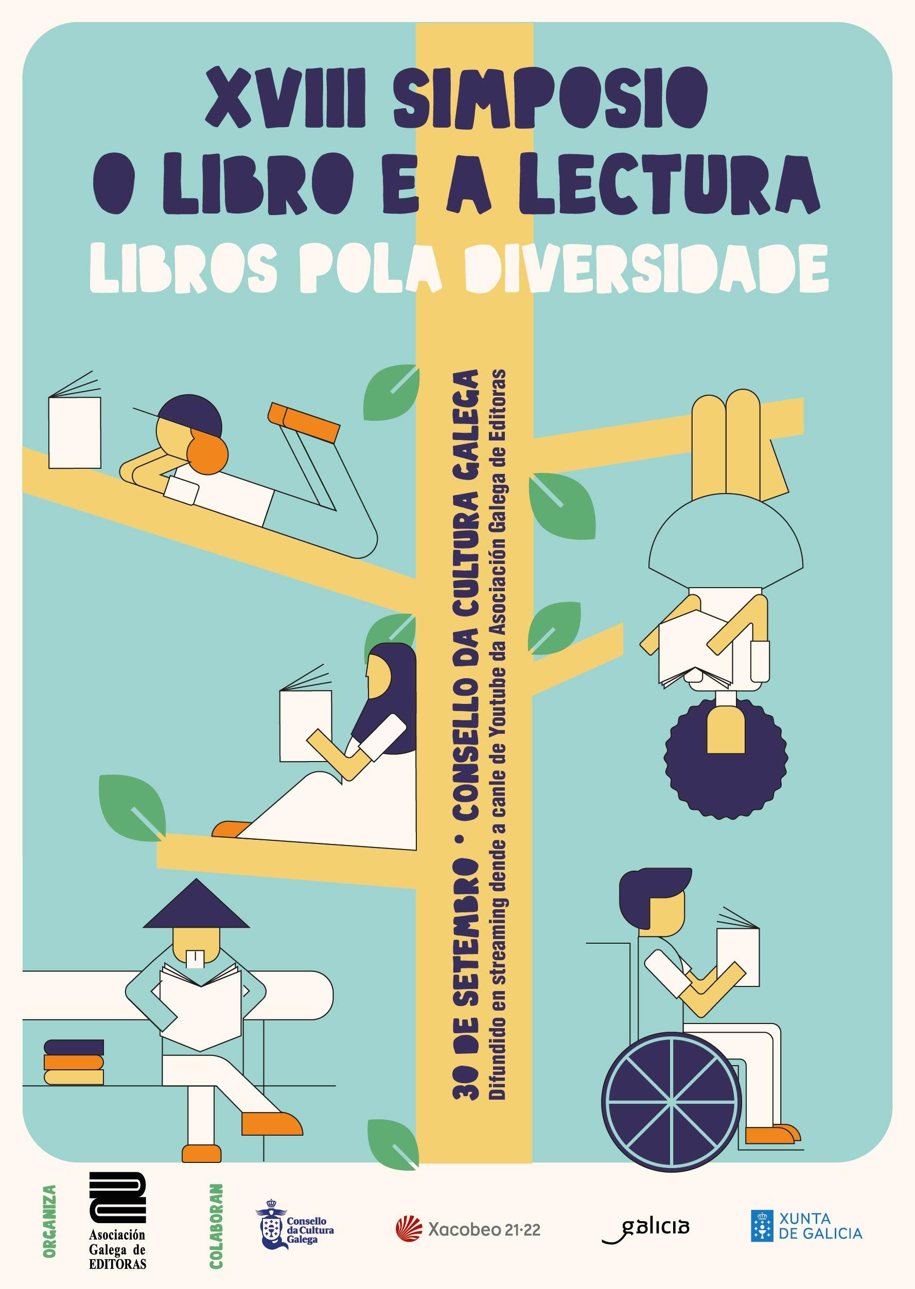 Cartaz: SIMPOSIO AGE 2021: LIBROS POLA DIVERSIDADE