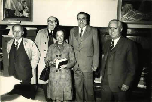 Ferro Couselo, Otero Pedrayo, Filgueira Valverde e Francisco Ogando