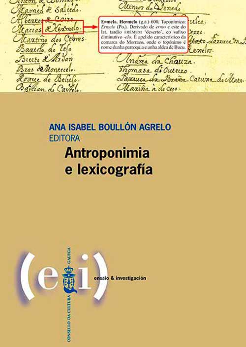 Presentación da publicación Antroponimia e lexicografía