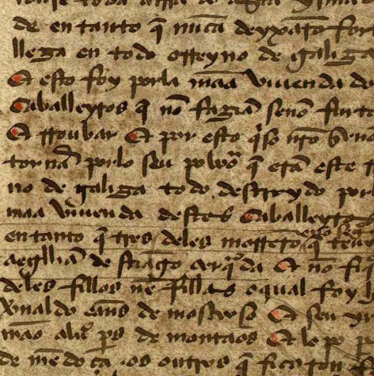 A lingua galega no solpor da Idade Media