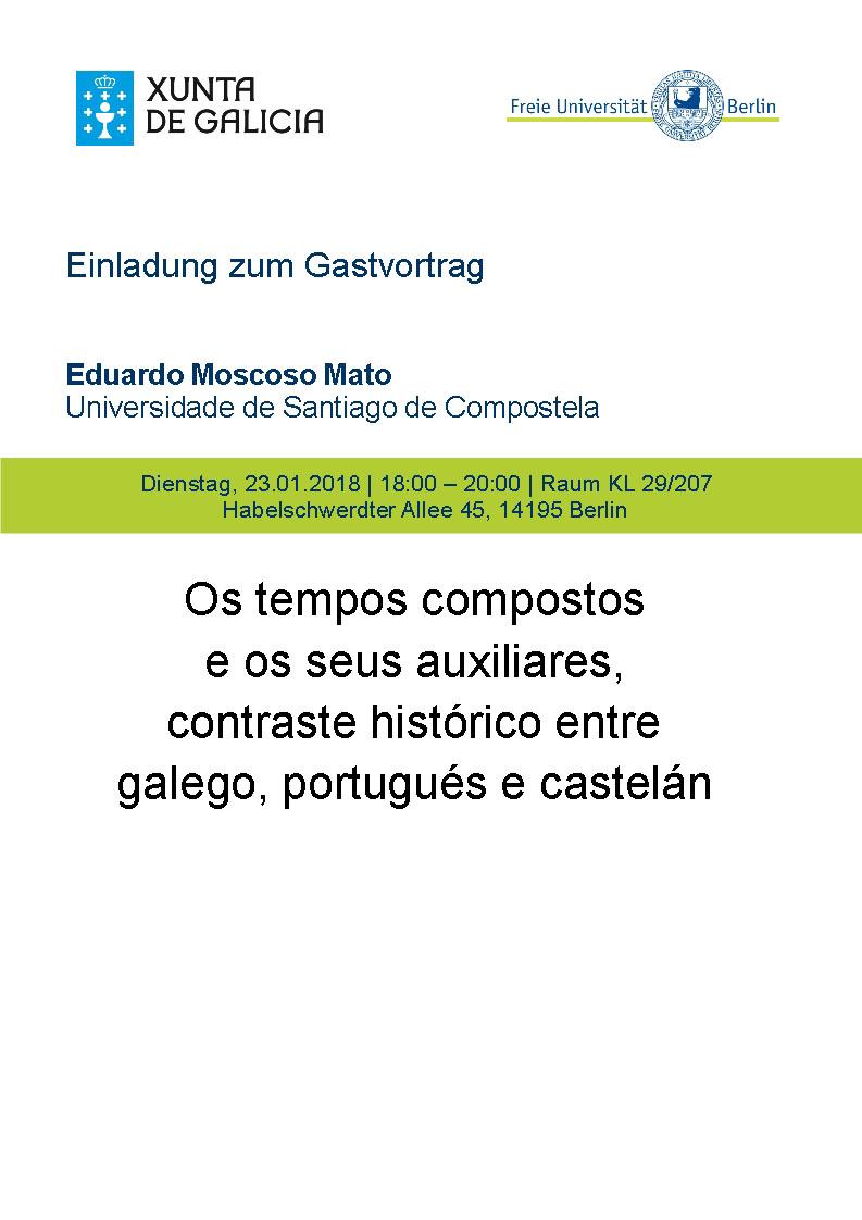 Os tempos compostos e os seus auxiliares, contraste histórico entre o galego, o portugués e o castelán