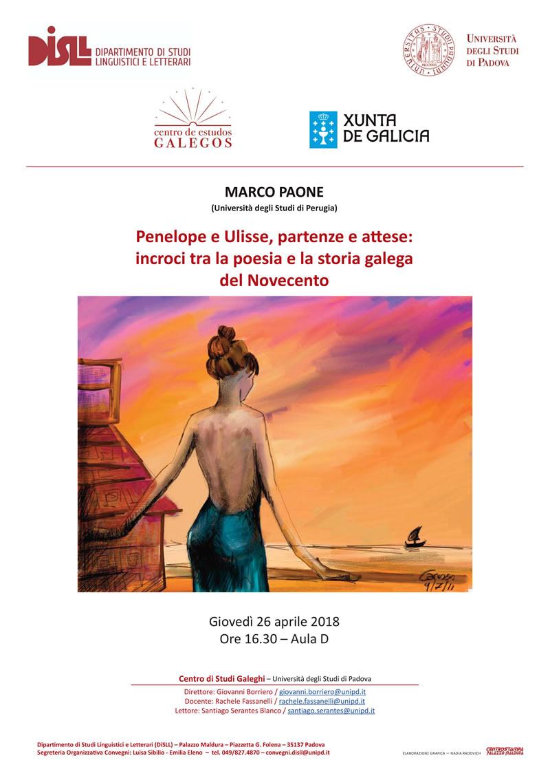 Conferencia Penelope e Ulisse, partenza e attese: incroci tra la poesia e la storia galega del Novecento