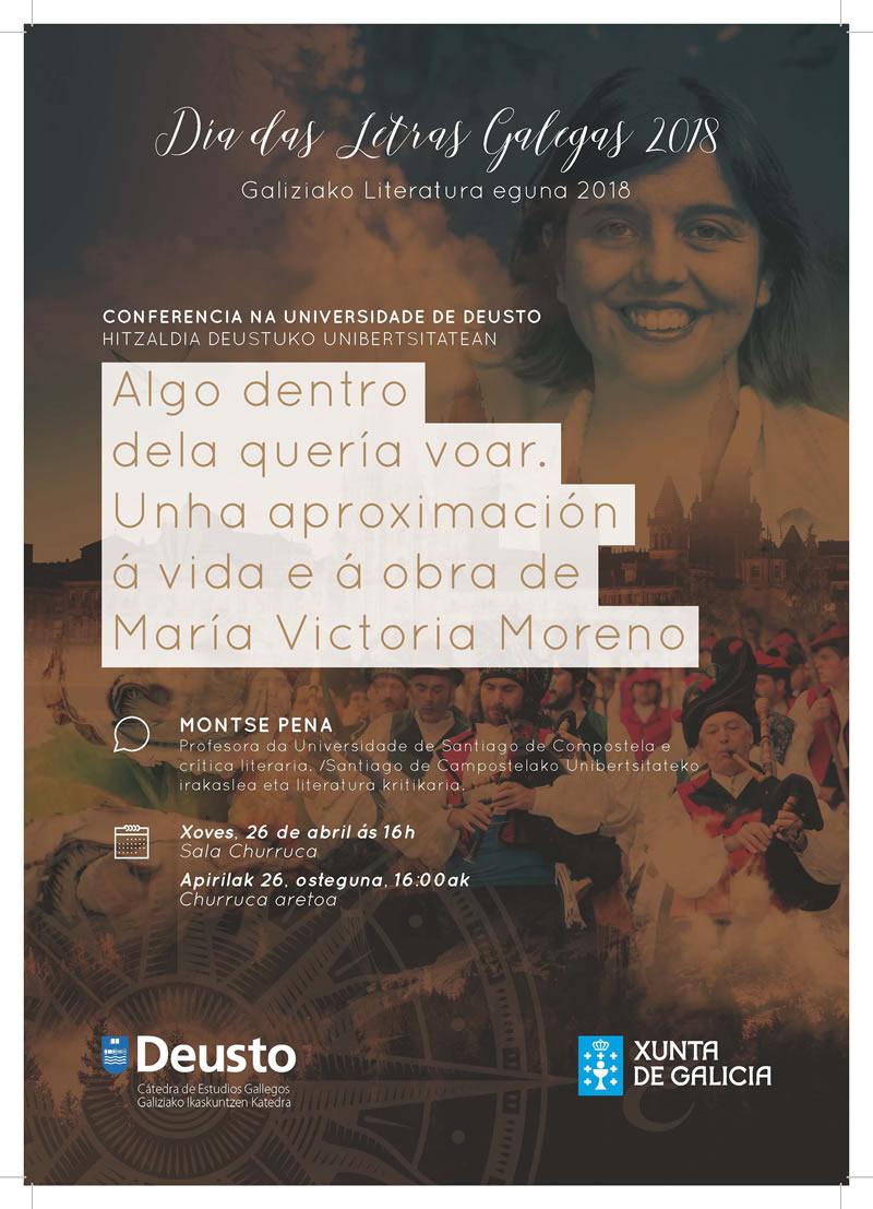Conferencia Algo dentro dela quería voar: unha aproximación á vida e a obra de María Victoria Moreno