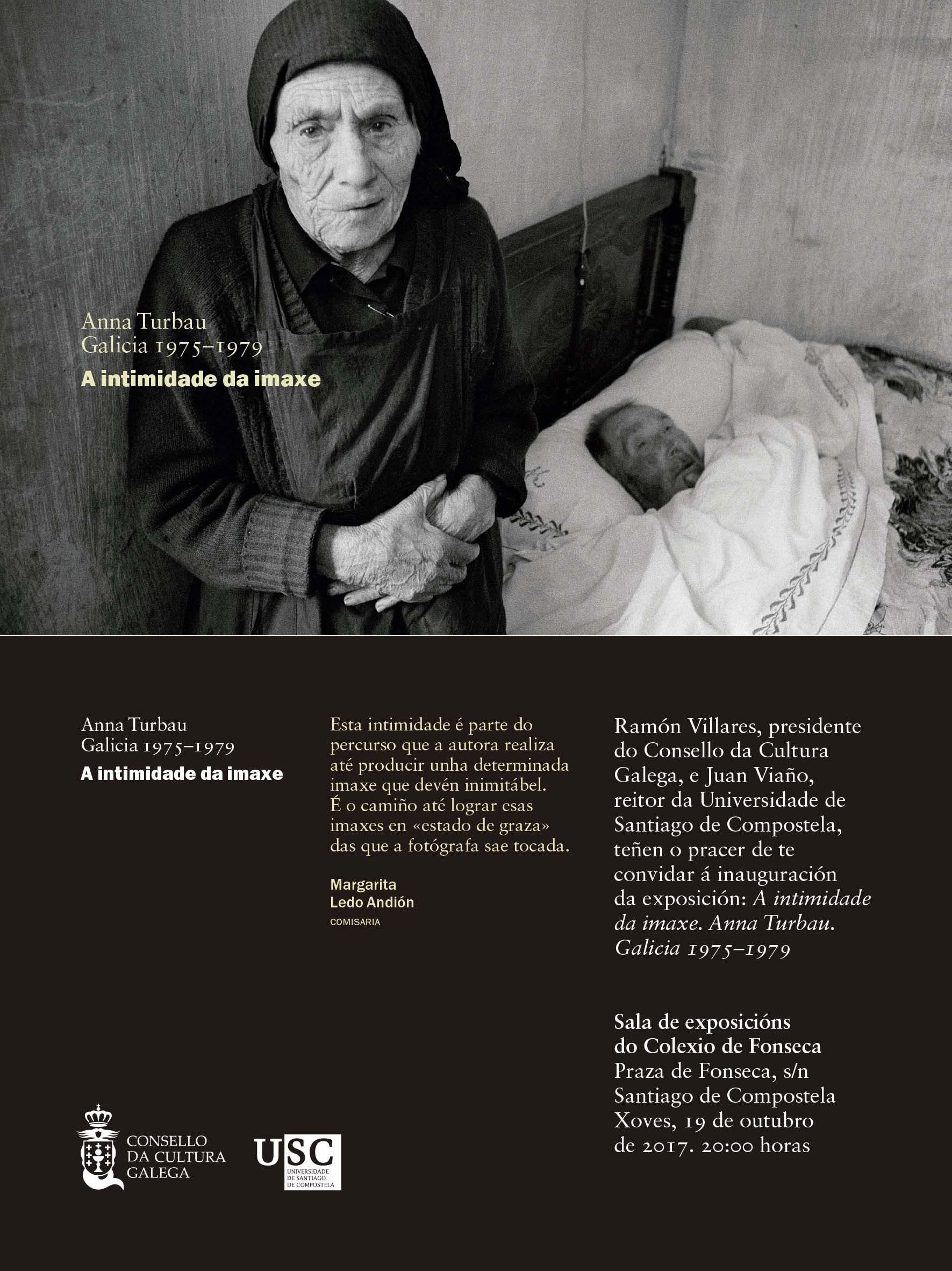 convite: A INTIMIDADE DA IMAXE. ANNA TURBAU. GALICIA 1975–1979