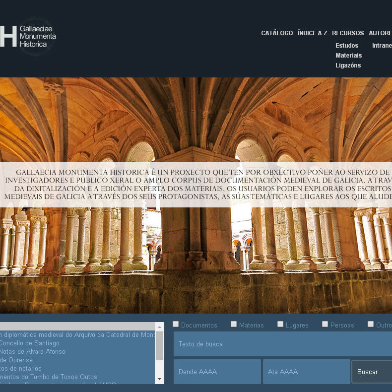 Rolda de prensa: Presentación do proxecto Gallaeciae Monumenta Historica